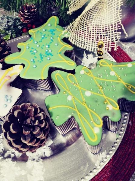 pierniki, kształt zielonej choinki