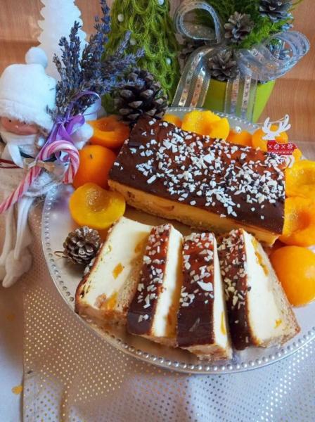 ciasto, kawałki, owoce